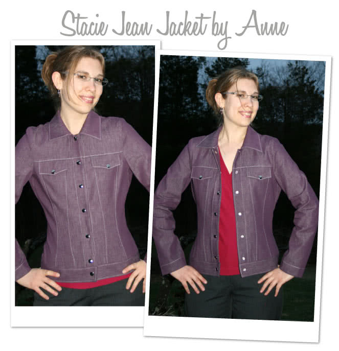 Stacie Jean Jacket Sewing Pattern By Anne And Style Arc - Trendy jean, denim or woven jacket