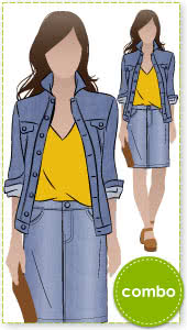 Stacie + Diana + Sally Outfit Sewing Pattern Bundle By Style Arc - Stacie Jean Jacket + Diana Top + Sally Jean Skirt