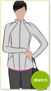 Steffi Jacket Sewing Pattern By Style Arc - Stretch sports pant with back leg and detail and gusset