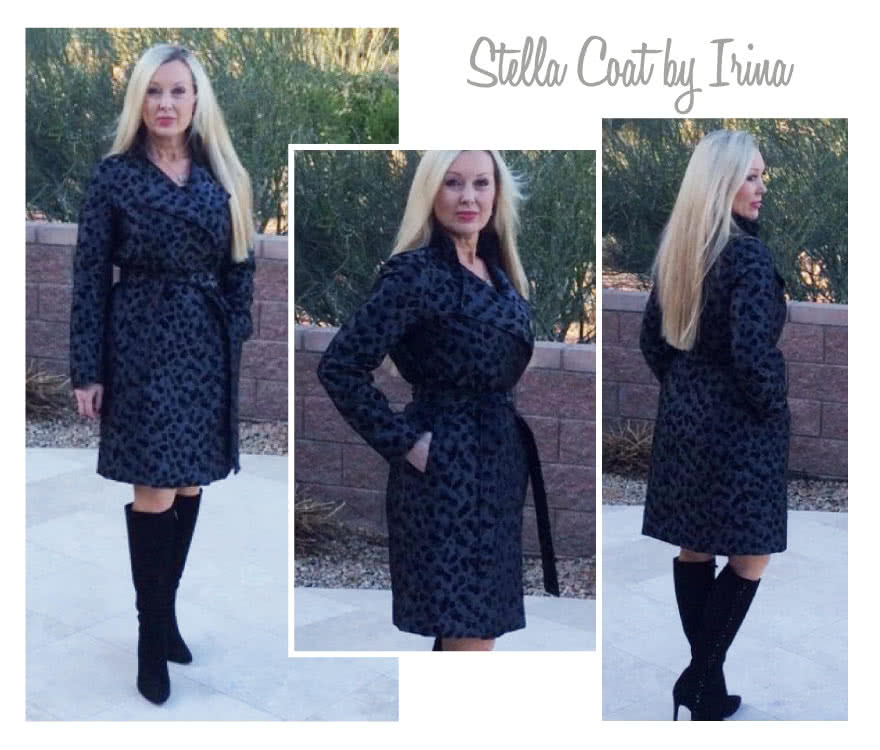 Stella Coat Sewing Pattern By Irina And Style Arc - Luxurious, versatile, easy to wear wrap coat