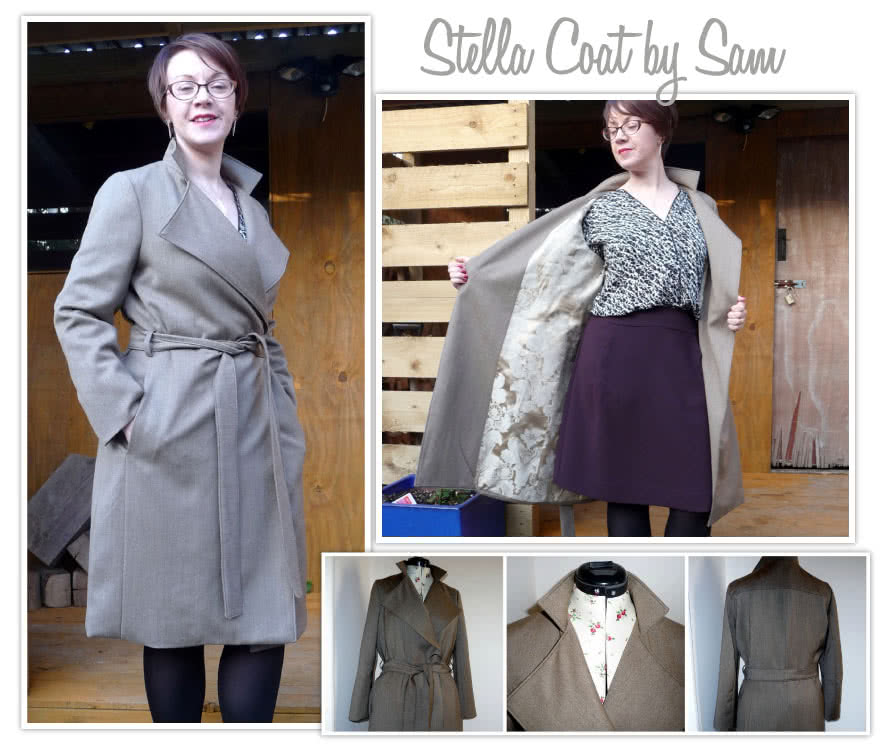 Stella Coat Sewing Pattern By Sam And Style Arc - Luxurious, versatile, easy to wear wrap coat
