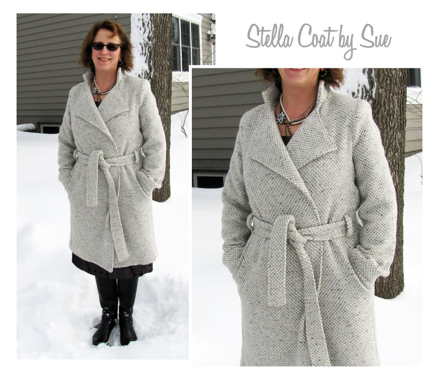 Stella Coat Sewing Pattern By Sue And Style Arc - Luxurious, versatile, easy to wear wrap coat