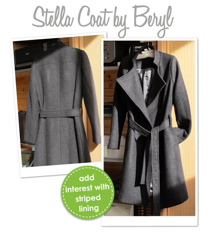 Stella Coat Sewing Pattern By Beryl And Style Arc - Luxurious, versatile, easy to wear wrap coat