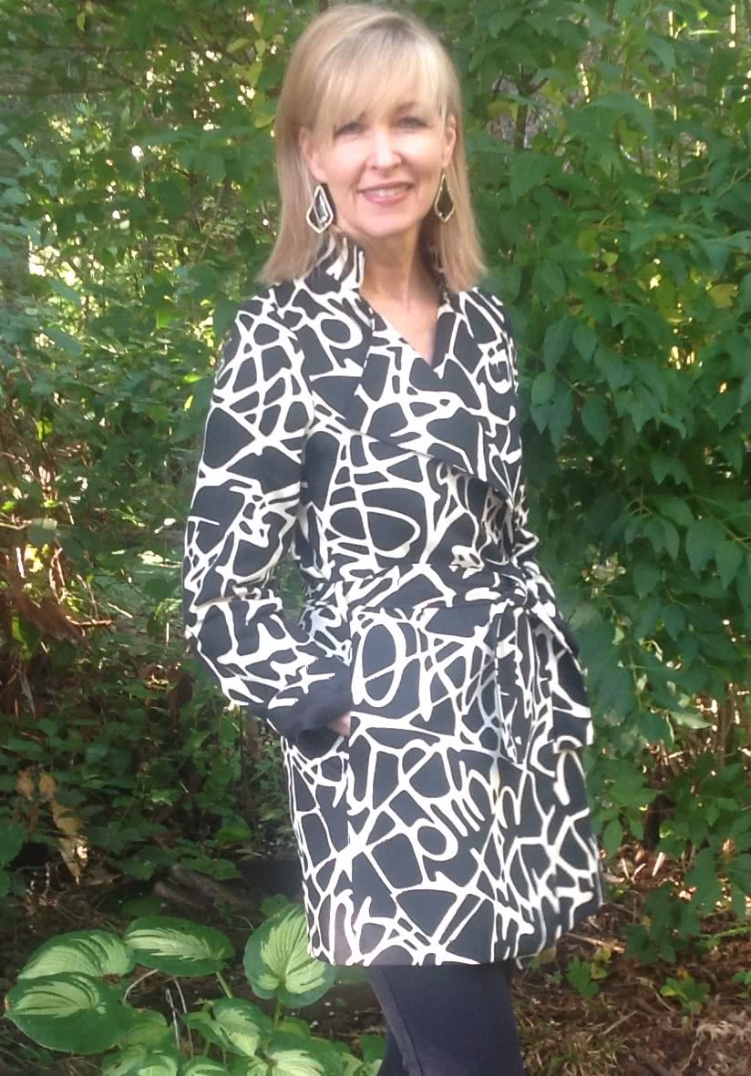 Stella Coat Sewing Pattern By Karen And Style Arc - Luxurious, versatile, easy to wear wrap coat
