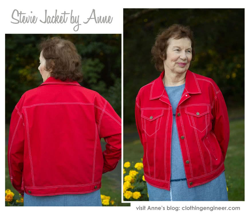 Stevie Jean Jacket Sewing Pattern By Anne And Style Arc - On-trend oversized Jean Jacket with all the traditional jean features.