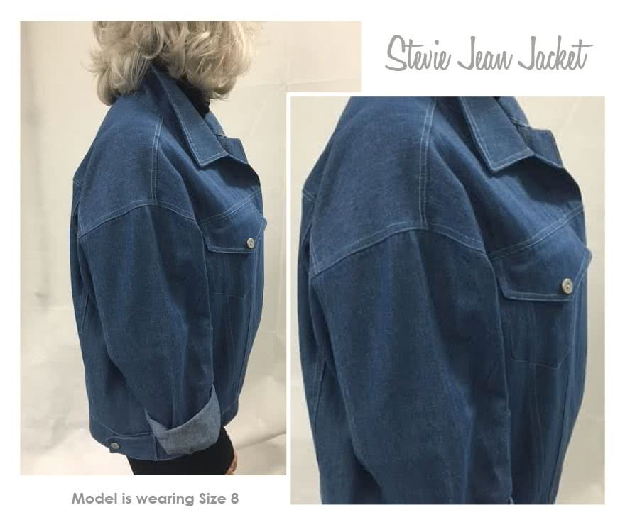 Stevie Jean Jacket Sewing Pattern By Style Arc - On-trend oversized Jean Jacket with all the traditional jean features.