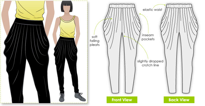 harem pants template - harem pants patterns standing the test of time style arc