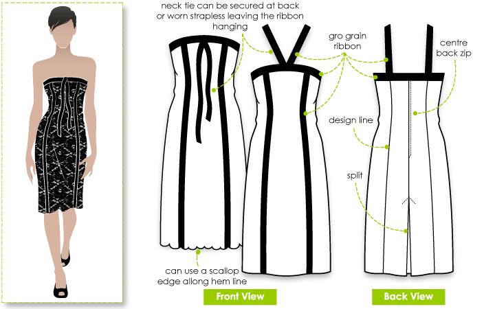 Style Arc's Sylvia Evening Dress Pattern