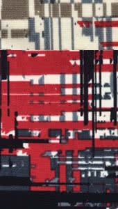 Jersey Knit - Red Poles Print Fabric By Style Arc - Style Arc Jersey Knit Fabric in Red Poles (print)