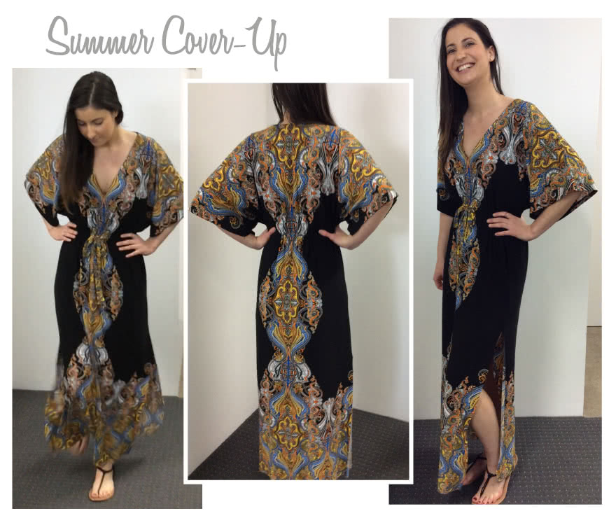 Summer Cover Up Sewing Pattern By Style Arc - Great relaxed cover up in two lengths