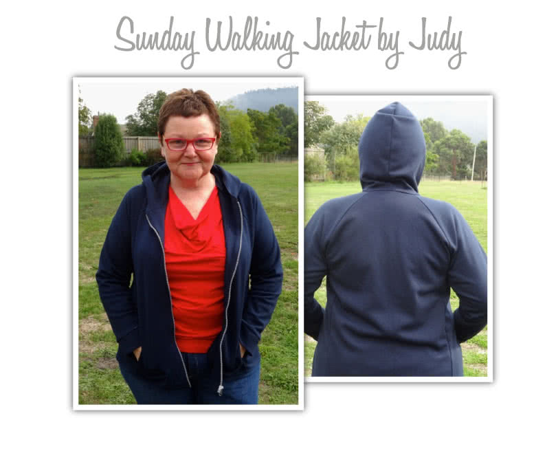 Sunday Zip Jacket Sewing Pattern By Judy And Style Arc - Designer zip front hooded walking jacket