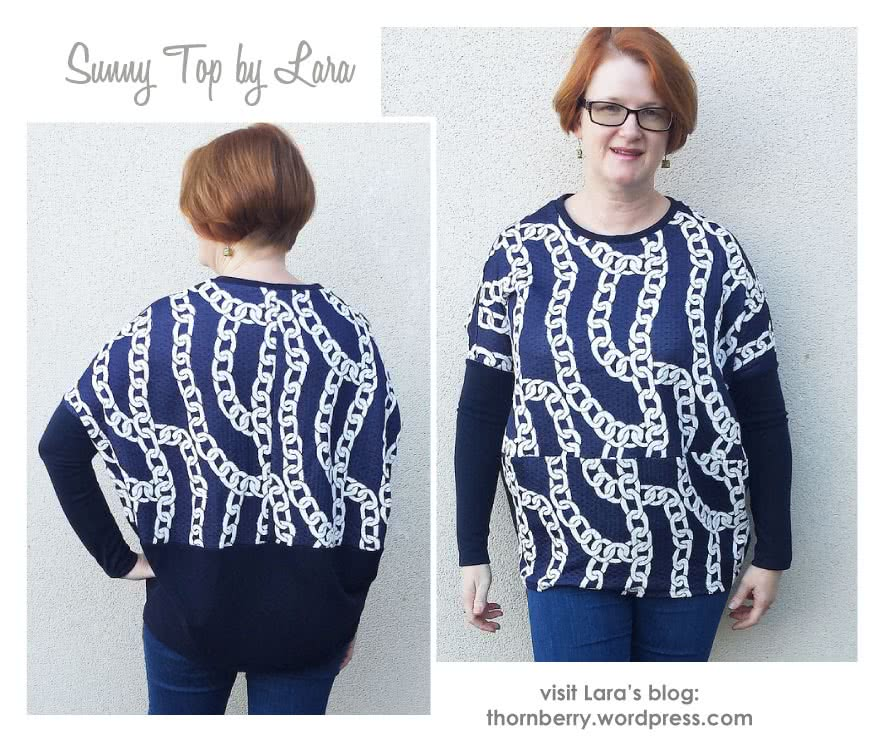 "Sunny Top Sewing Pattern By Lara And Style Arc - This is a great oversized knit top with the new ""cocoon"" shape"