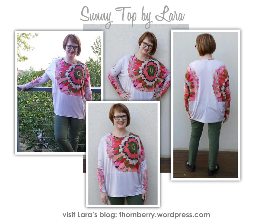"""Sunny Top Sewing Pattern By Lara And Style Arc - This is a great oversized knit top with the new """"cocoon"""" shape"""