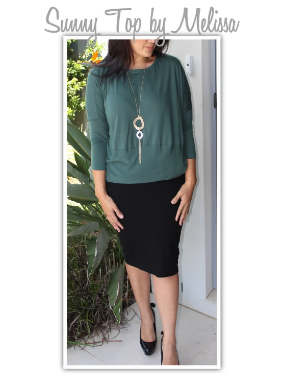 "Sunny Top Sewing Pattern By Melissa And Style Arc - This is a great oversized knit top with the new ""cocoon"" shape"