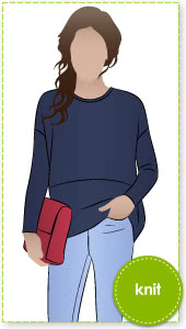"""Sunny Top Sewing Pattern By Style Arc - This is a great oversized knit top with the new """"cocoon"""" shape"""