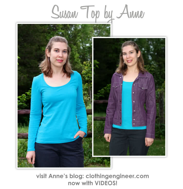Susan Top Sewing Pattern By Anne And Style Arc - Great U-neck top