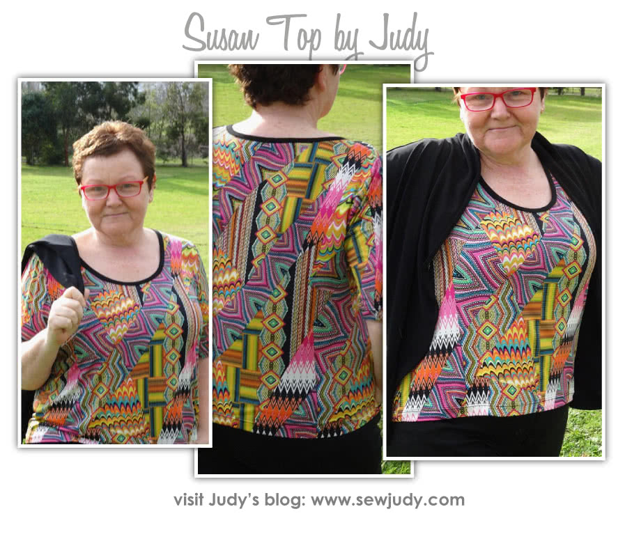 Susan Top Sewing Pattern By Judy And Style Arc - Great U-neck top