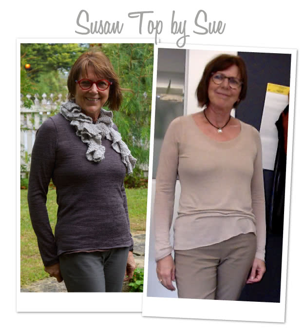 Susan Top Sewing Pattern By Sue And Style Arc - Great U-neck top