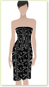Sylvia Dress Sewing Pattern By Style Arc - Fitted evening dress with lining