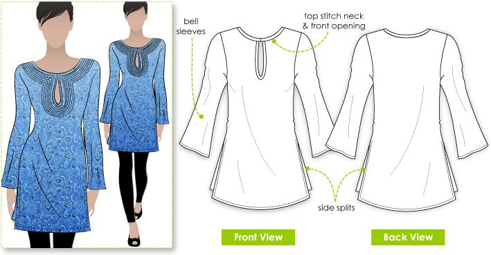 Sandy Top Sewing Pattern By Style Arc - Great easy to wear kaftan