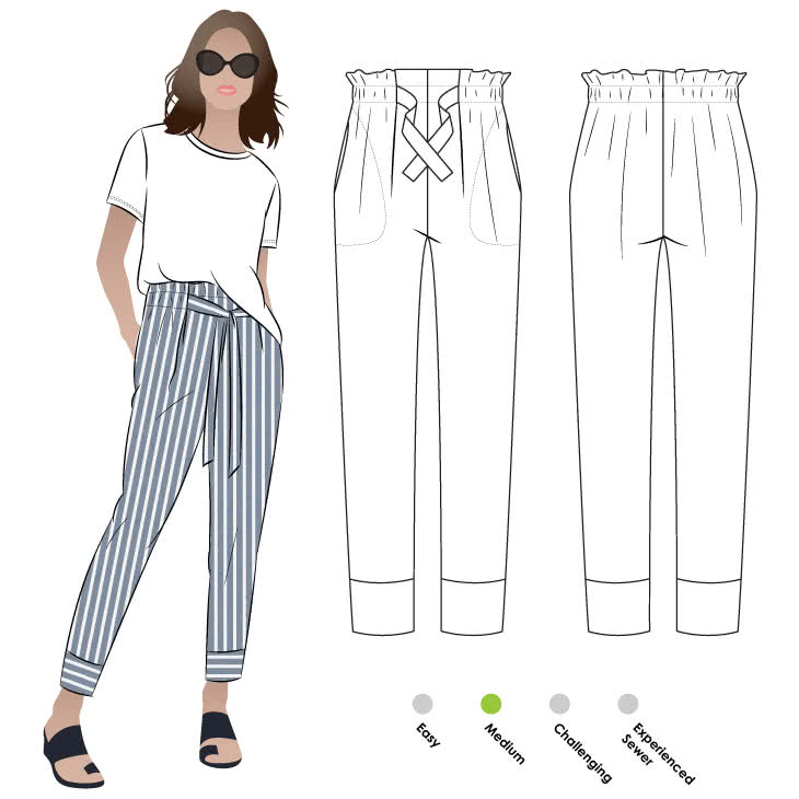 Tully Pant Style Arc Unique Pants Sewing Pattern