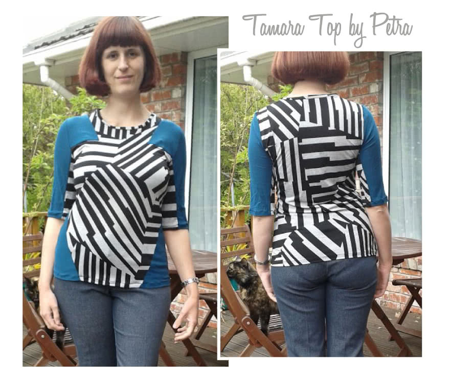 Tamara Knit Top Sewing Pattern By Petra And Style Arc - Interesting spliced knit top