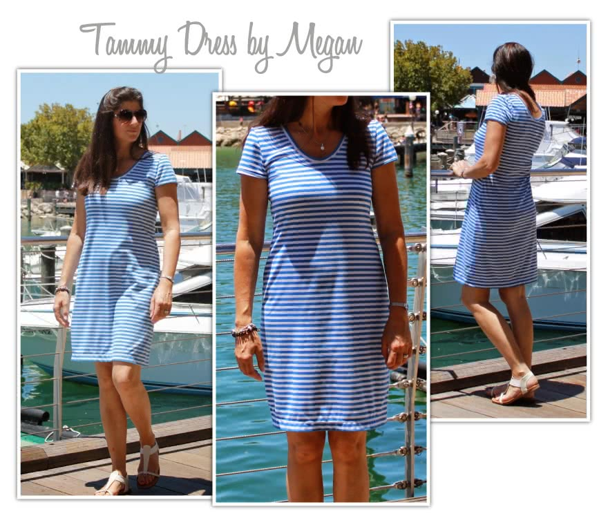 Tammy Knit Dress Combo Sewing Pattern By Megan And Style Arc - Knit dress/top with optional overlay