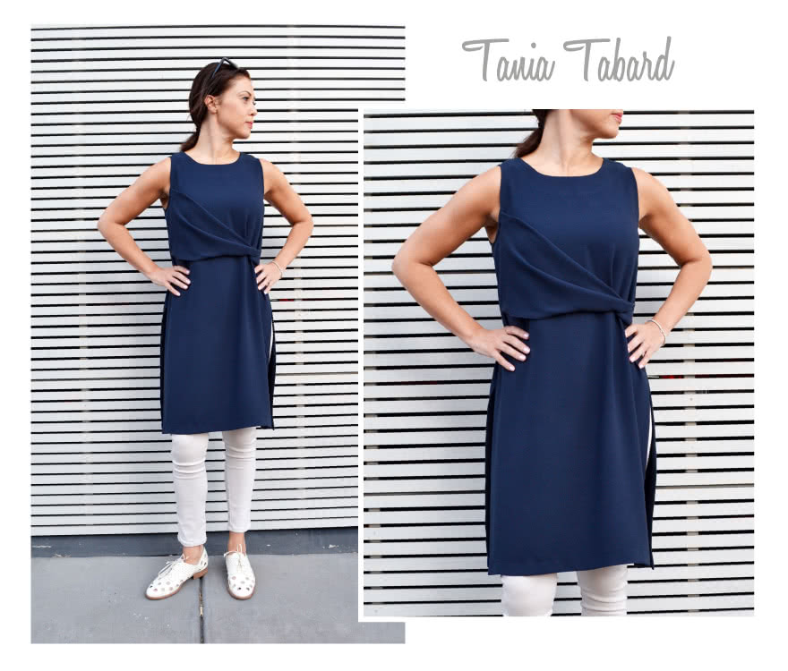 Tania Tabard Sewing Pattern By Style Arc - Designer Tabard a stylish twisted front piece