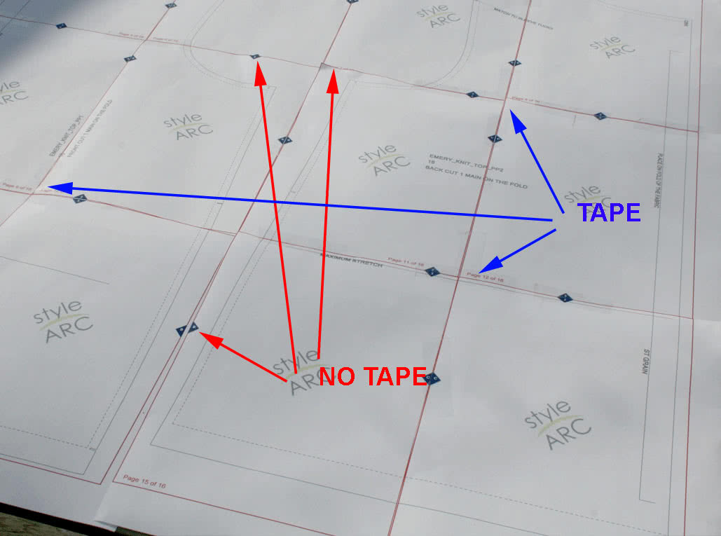How to Use a PDF Patter - Tape Placement
