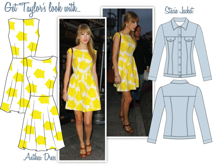 Taylor's Summer Look Sewing Pattern Bundle By Style Arc - Stacie Jacket, Anthea Dress