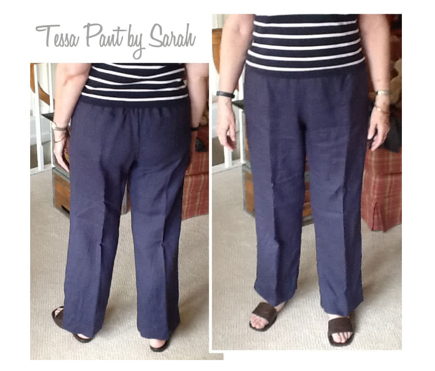 Tessa Pant Sewing Pattern By Sarah And Style Arc - Not too slim and not too wide; just perfect pull-on pant