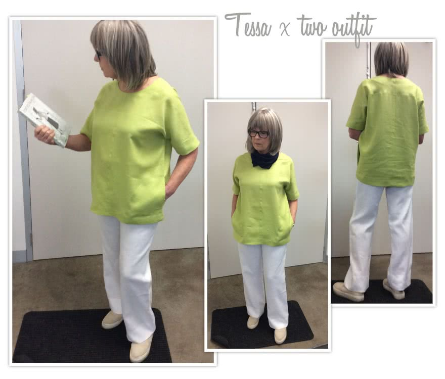 Tessa Top Sewing Pattern By Style Arc - Designer cocoon-shape top with creative splicing