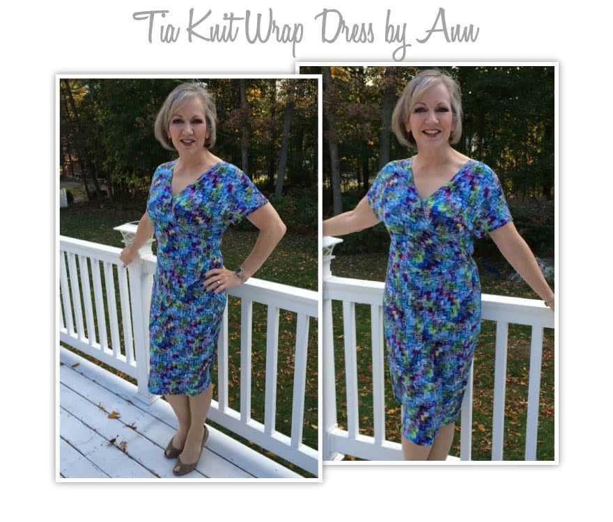Tia Knit Wrap Dress Sewing Pattern By Ann And Style Arc - Slip on wrap dress with a difference