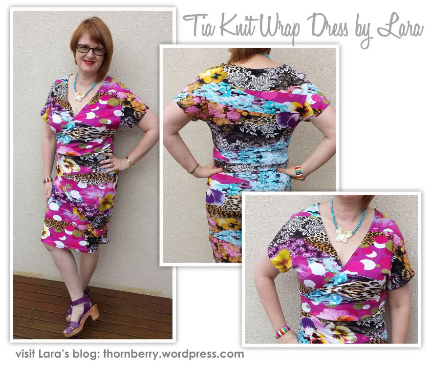 Tia Knit Wrap Dress Sewing Pattern By Lara And Style Arc - Slip on wrap dress with a difference