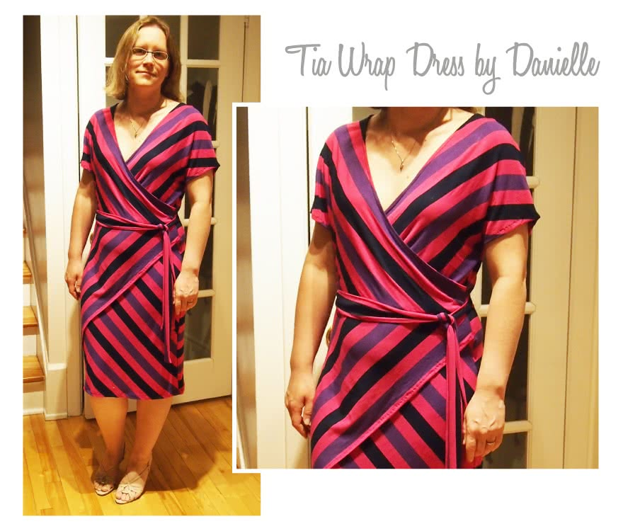 Tia Knit Wrap Dress Sewing Pattern By Danielle And Style Arc - Slip on wrap dress with a difference