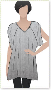 Tilda Tunic / Top Sewing Pattern By Style Arc - Great knit over Tunic with the look of the moment