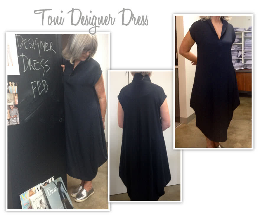 Toni Designer Dress Sewing Pattern By Style Arc - Fabulous long line designer dress