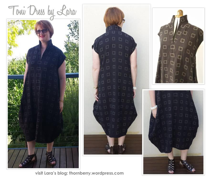 Toni Designer Dress Sewing Pattern By Lara And Style Arc - Fabulous long line designer dress