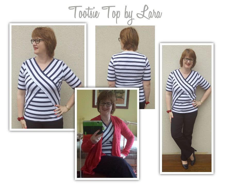 Tootsie Knit Top Sewing Pattern By Lara And Style Arc - Great knit top with the latest styling