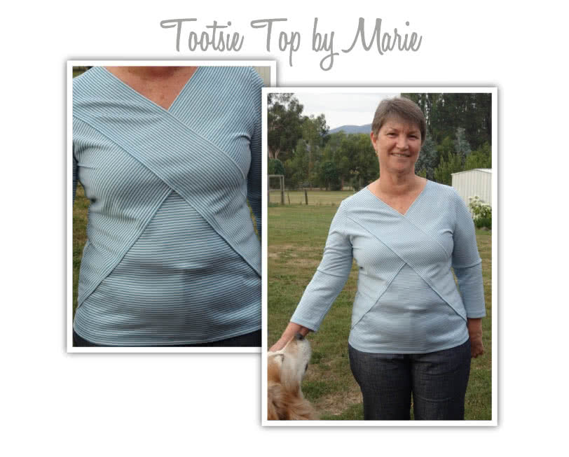 Tootsie Knit Top Sewing Pattern By Marie And Style Arc - Great knit top with the latest styling