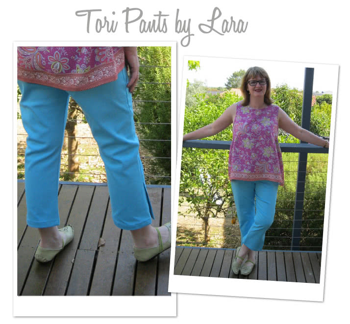 Tori Crop Pant Sewing Pattern By Lara And Style Arc - Easy wear pull on crop pant with side leg detail