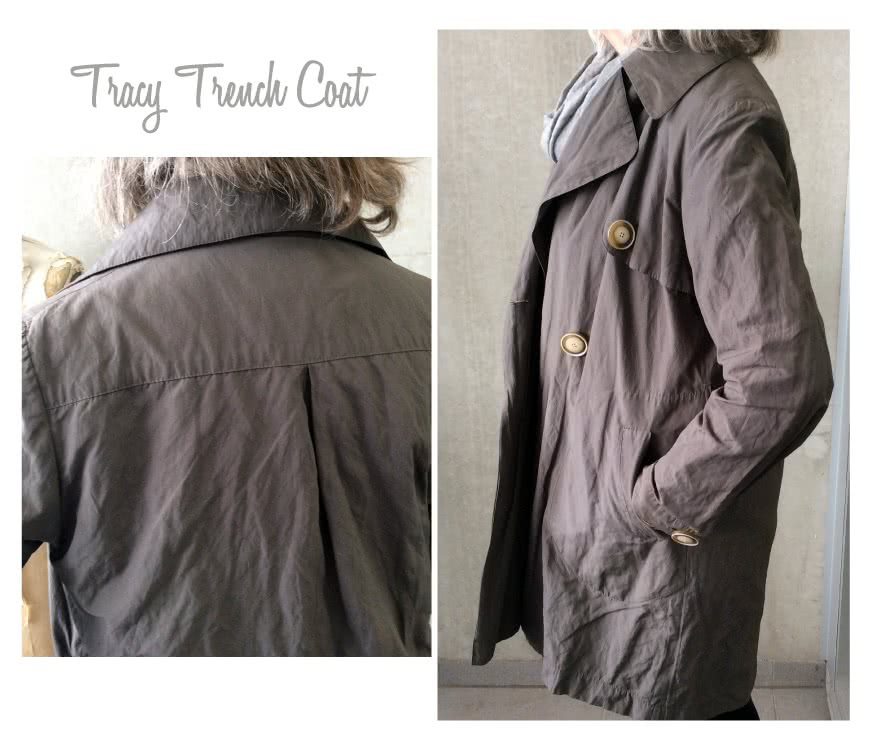 Tracy Trench Coat Sewing Pattern By Style Arc - Casual classic double breasted trench coat with a tie belt and welted pockets