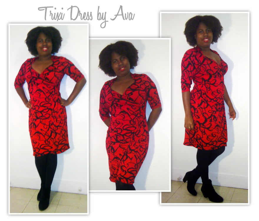 Trixi Knit Wrap Dress Sewing Pattern By Ava And Style Arc - A new take on the wrap dress