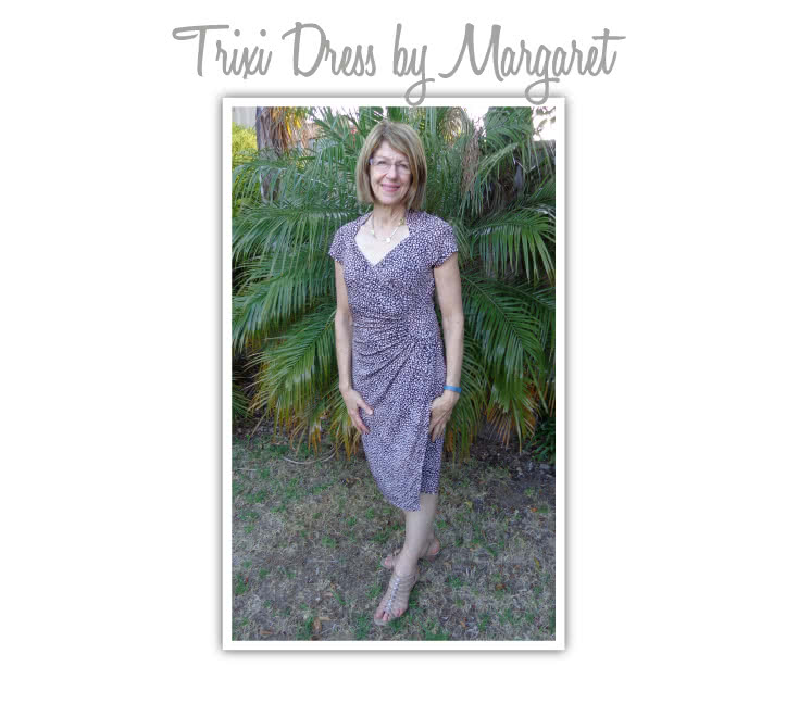 Trixi Knit Wrap Dress Sewing Pattern By Margaret And Style Arc - A new take on the wrap dress