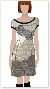 Twiggy Dress Sewing Pattern By Style Arc - Up to a moment dress with contrast bands