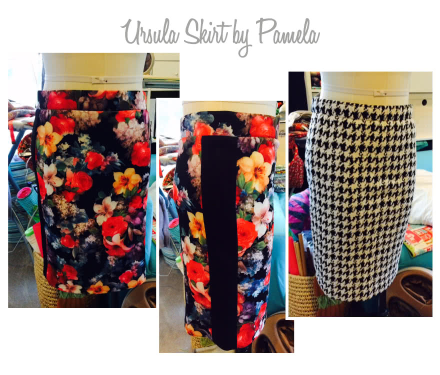 Ursula Ponte Skirt Sewing Pattern By Pamela And Style Arc - Ponte skirt with elastic waist & side panels