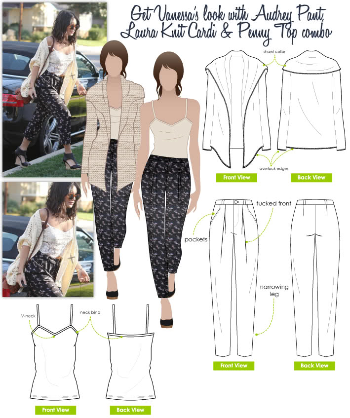 Vanessa's Look No.1 Sewing Pattern Bundle By Style Arc