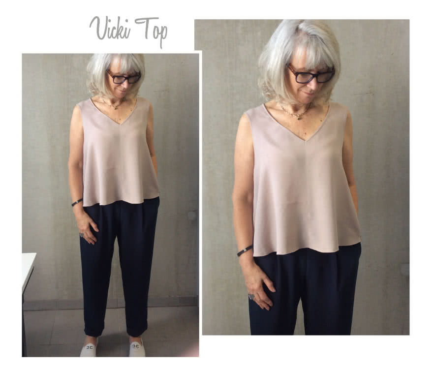 Vicki Top Sewing Pattern By Style Arc