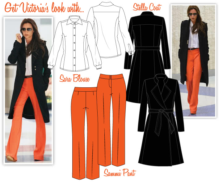 Victoria's Autumn / Winter Look Sewing Pattern Bundle By Style Arc - Stella Coat, Sara Blouse, Sammi Pants