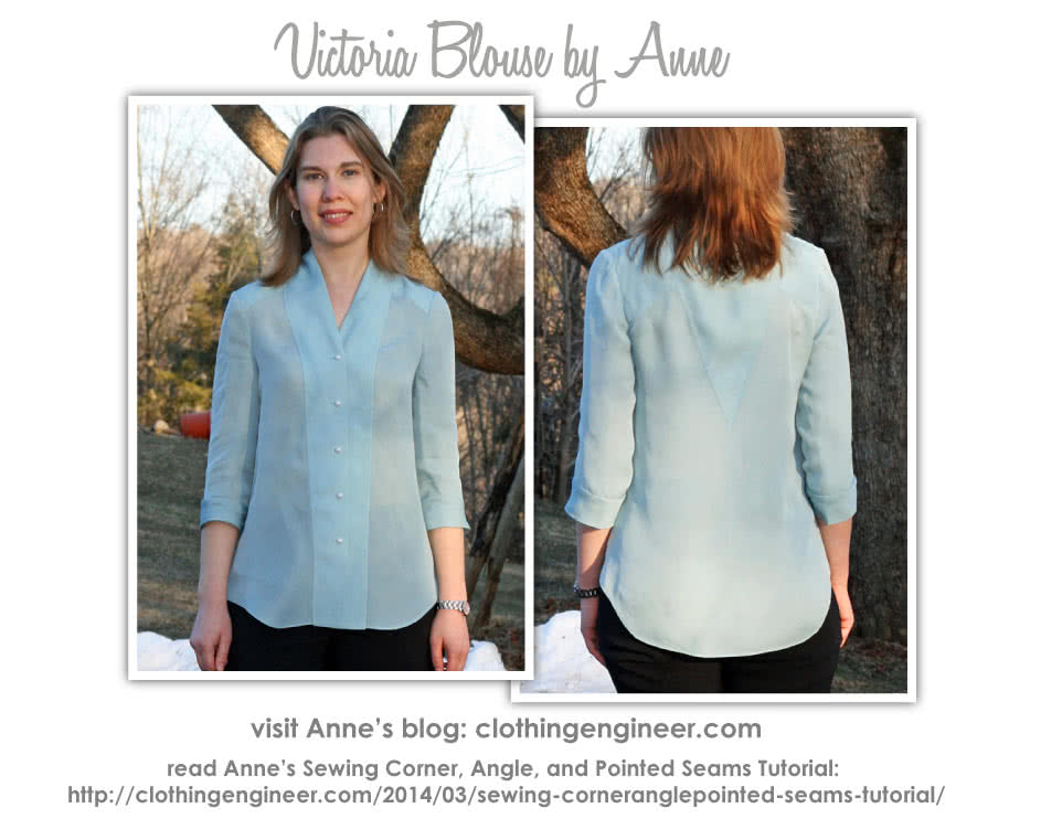 Victoria Blouse Sewing Pattern By Anne And Style Arc - Fabulous blouse with interesting design lines
